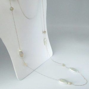 Jewelry - Baroque Pearls & Madagascar Agate Bead Necklace